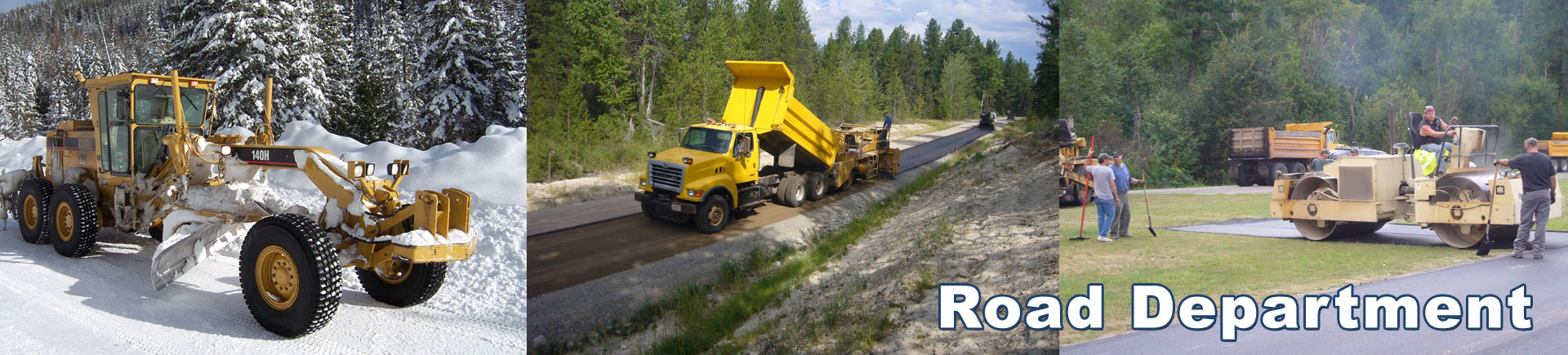 Road Department Header